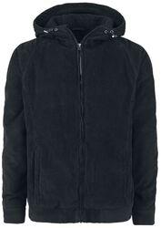 Manšestrová bunda s kapucí