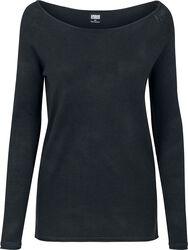 Dámský dlouhý svetr s raglanovými rukávy
