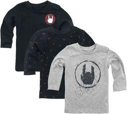 3-Pack Grey/Black Long-Sleeve Shirts