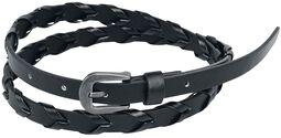 Černý pletený pásek