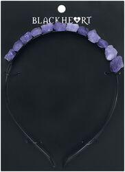 S fialovými neopracovanými kameny