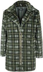 Plédový kabát Teenage Dirtbag z imitace kožešiny