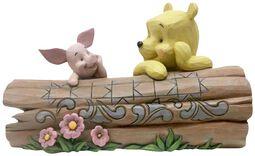Figurka Pu a Piglet na dřevě
