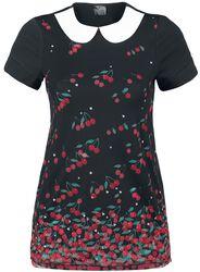 Tričko s límcem Falling Cherries