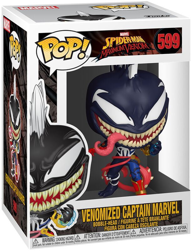Vinylová figurka č. 599 Maximum Venom - Venomized Captain Marvel