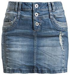 Dámská denimová sukně se zničeným efektem
