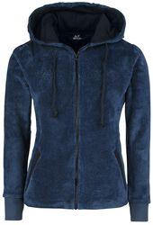 Flísová bunda s kapucí