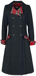 Kontrastní tartanový kabát Vanessa