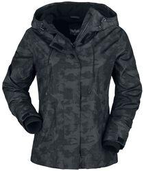 Černá kamufláž bunda s měkkou podšívkou