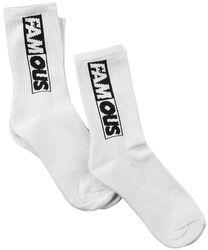 Balení 2 párů ponožek s nápisem Famous