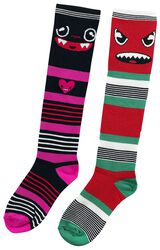 Balení 2 párů proužkovaných ponožek Monster