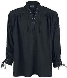 Middle Ages Lace-Up Shirt With Eyelets