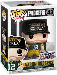 Vinylová figurka č. 43 Packers - Aaron Rodgers