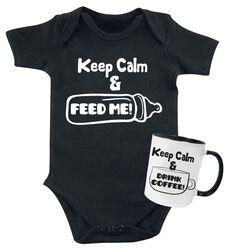 Keep Calm Baby Body + hrnek