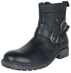 Černé kožené boty s přezkami