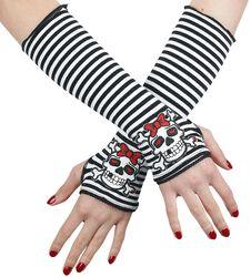 Proužkované návleky na ruce