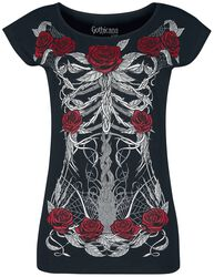 T-shirt with Skeleton Print