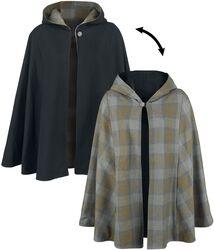 Oboustranný plédový plášť