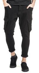 Kapsáčové denimové kalhoty se skráceným střihem