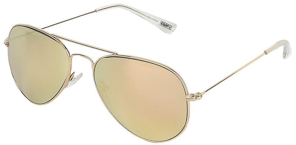 Zlaté letecké sluneční brýle