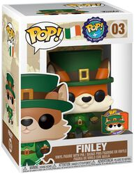 Vinylová figurka č. 03 Around the World - Finley (POP a odznak) (Ireland) (Funko Shop Europe)