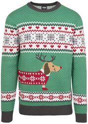 Vánočný svetr Sausage Dog