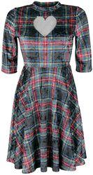 Samětové tartanové šaty No Heart