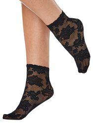 Krajkové členkové ponožky