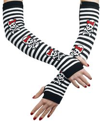 Arm Warmers with Girly Skulls