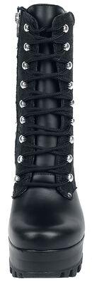 Černé kožené boty Baroque