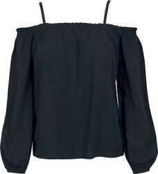 Dámské tričko s dlouhými rukávy a odhalenými rameny