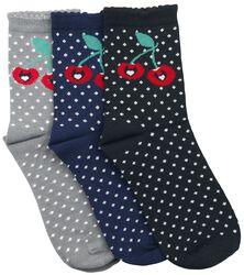 Balení 3 párů ponožek Sweet Dotties