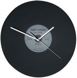 Skleněné nástěnné hodiny Vinyl