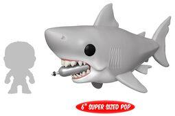 Vinylová figurka č. 759 Jaws - Great White Shark with diving Tank (Oversized)