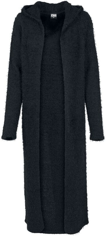 Ladies Hooded Feather Cardigan