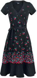 Zavinovací šaty Falling Cherries