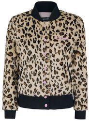 Bunda z imitace leopardí kožešiny