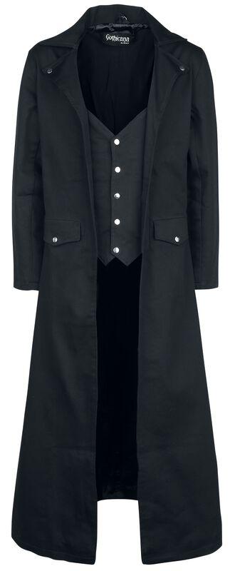 Dlouhý černý kabát