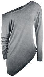 Asymetrické tričko s dlouhými rukávy