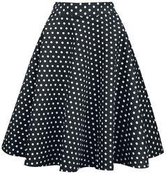 Kruhová sukně s vysokým pásem Shirley s puntíky