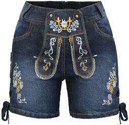 Krátke džínové kalhoty v tradičním německém stylu 2aaaa01eb3