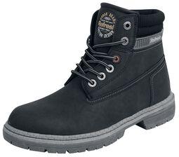 Černé semišové boty