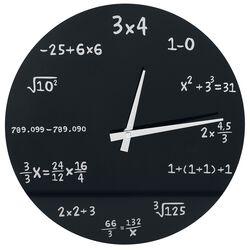 Skleněné nástěnné hodiny Mathematics