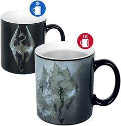 Hrnek Skyrim V - Dragon Symbol s potiskem, který se pod vlivem tepla mění
