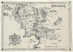 Mapa Středozeme