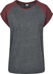 Dámské kontrastní raglanové tričko