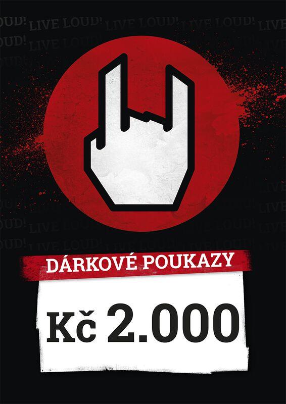 Nákupní a dárkové poukazy 2.000 CZK