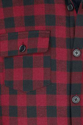 Kostkovaná košile - červeno/černá