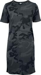 Dámské tričkové šaty s kamufláž vzorem