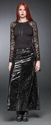 Dlouhá sukně s přezkami v lakovaném
